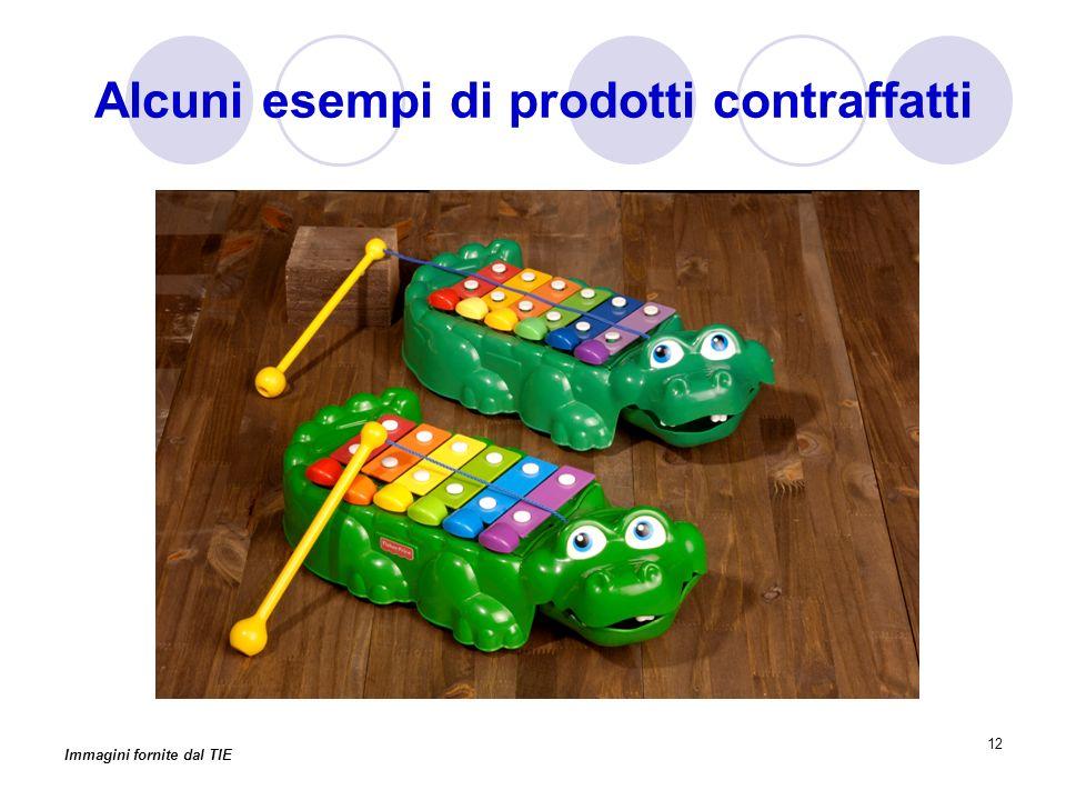 12 Alcuni esempi di prodotti contraffatti Immagini fornite dal TIE