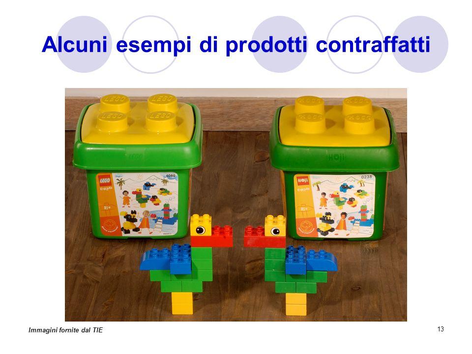 13 Alcuni esempi di prodotti contraffatti Immagini fornite dal TIE
