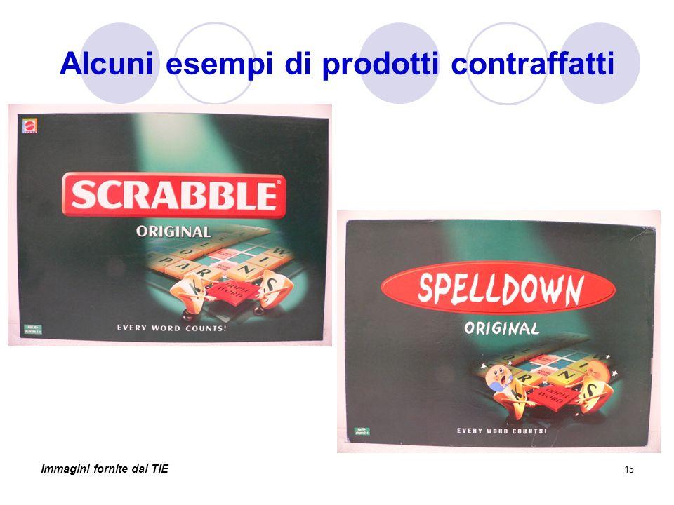 15 Alcuni esempi di prodotti contraffatti Immagini fornite dal TIE
