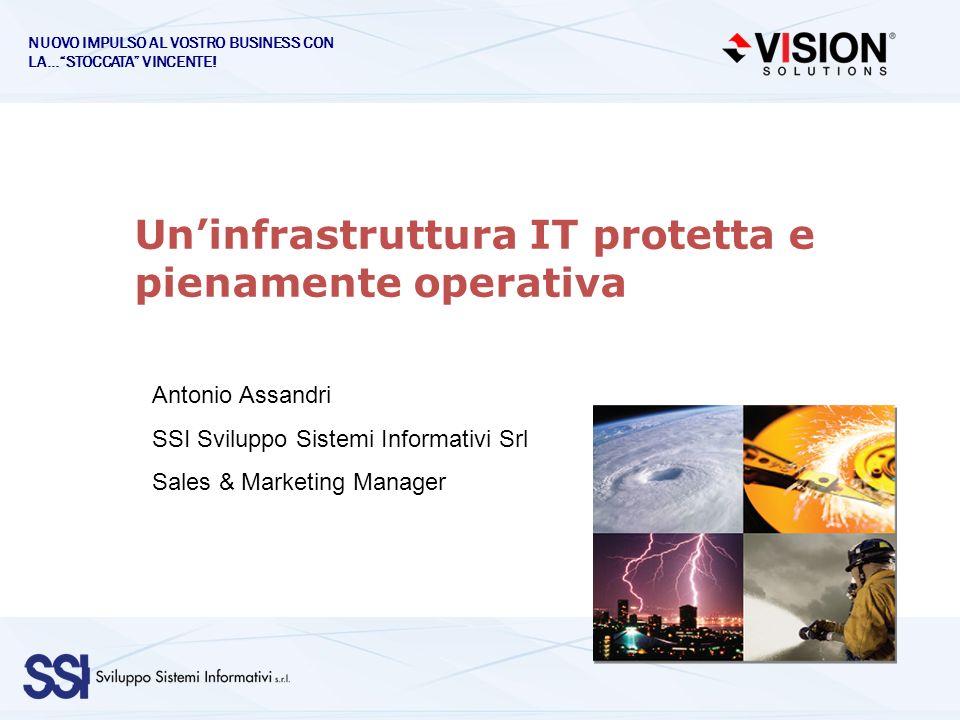 Uninfrastruttura IT protetta e pienamente operativa Antonio Assandri SSI Sviluppo Sistemi Informativi Srl Sales & Marketing Manager NUOVO IMPULSO AL V