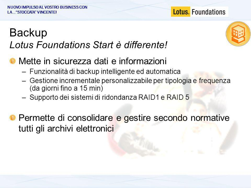 Backup Lotus Foundations Start è differente.