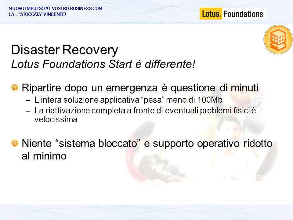Disaster Recovery Lotus Foundations Start è differente.