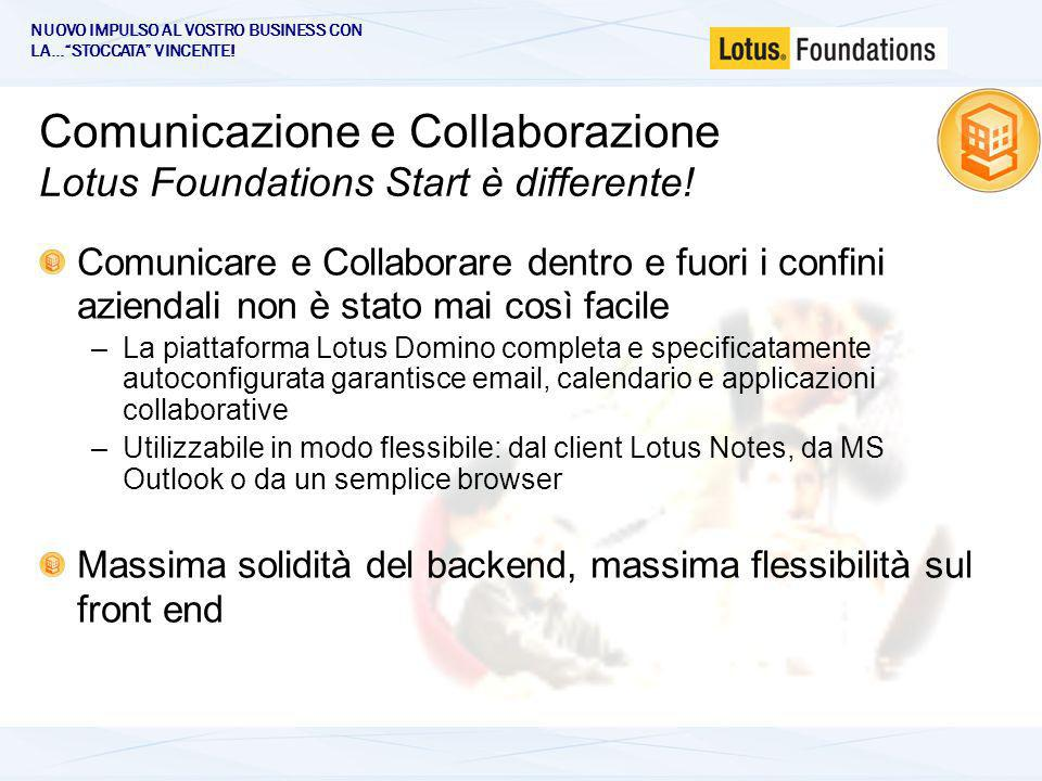 Comunicazione e Collaborazione Lotus Foundations Start è differente.