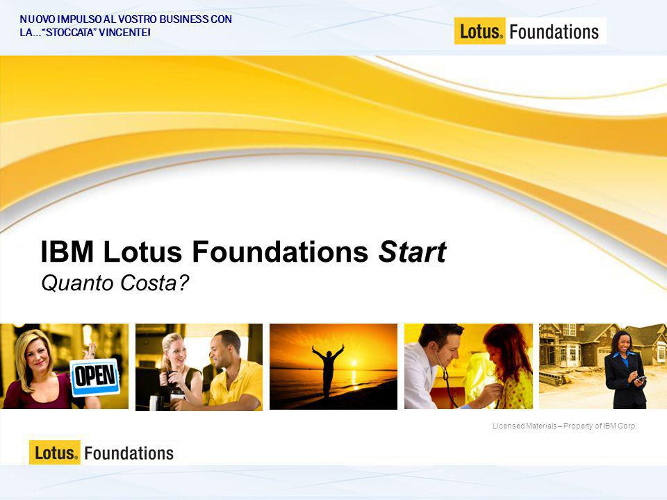 Licensed Materials – Property of IBM Corp. IBM Lotus Foundations Start Quanto Costa.