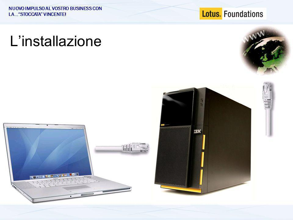 Lotus Foundations - Architettura File /Print Firewall VPN Remote access Content filtering Anti-Virus + Anti-Spam Web server Web applications SQL server Web caching FTP DNS, DHCP LDAP Autonomic system backup Remote Data Vaulting Disaster recovery LINUX kernel Core Apps idb System ER Double Vision DataVault OpenSource apps ApacheMySQLFTPdAtaTalketc.