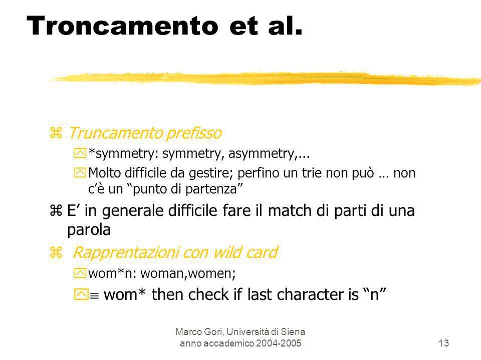 Marco Gori, Università di Siena anno accademico 2004-200514 zLoverhead dellindice può arrivare al 300%.