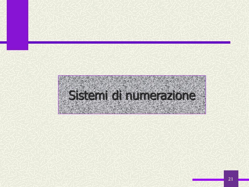 21 Sistemi di numerazione