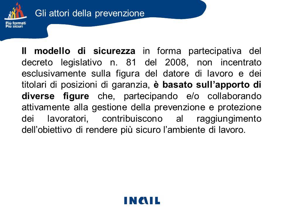 Il modello di sicurezza in forma partecipativa del decreto legislativo n.