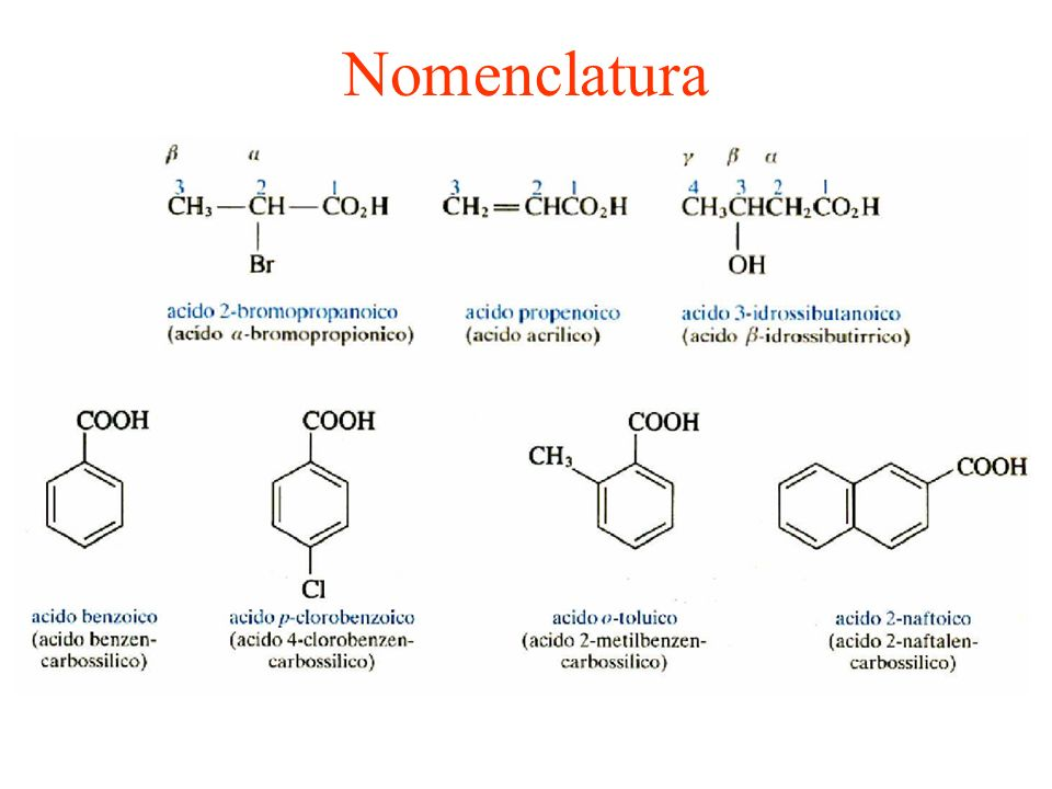 Proprietà fisiche I primi termini della serie sono liquidi incolori con odori pungenti o sgradevoli.