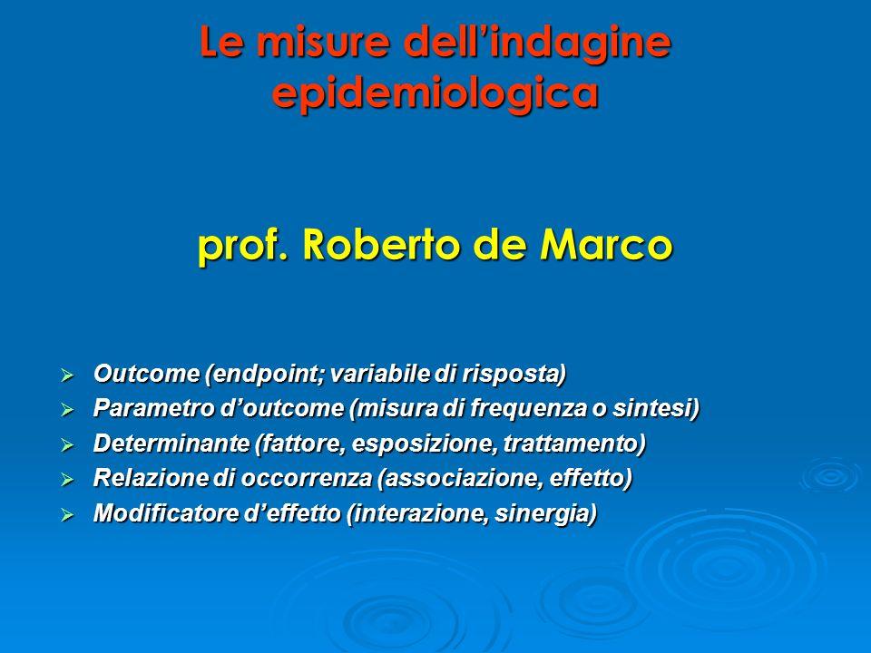 Outcome (endpoint; variabile di risposta) Outcome (endpoint; variabile di risposta) Parametro doutcome (misura di frequenza o sintesi) Parametro doutc