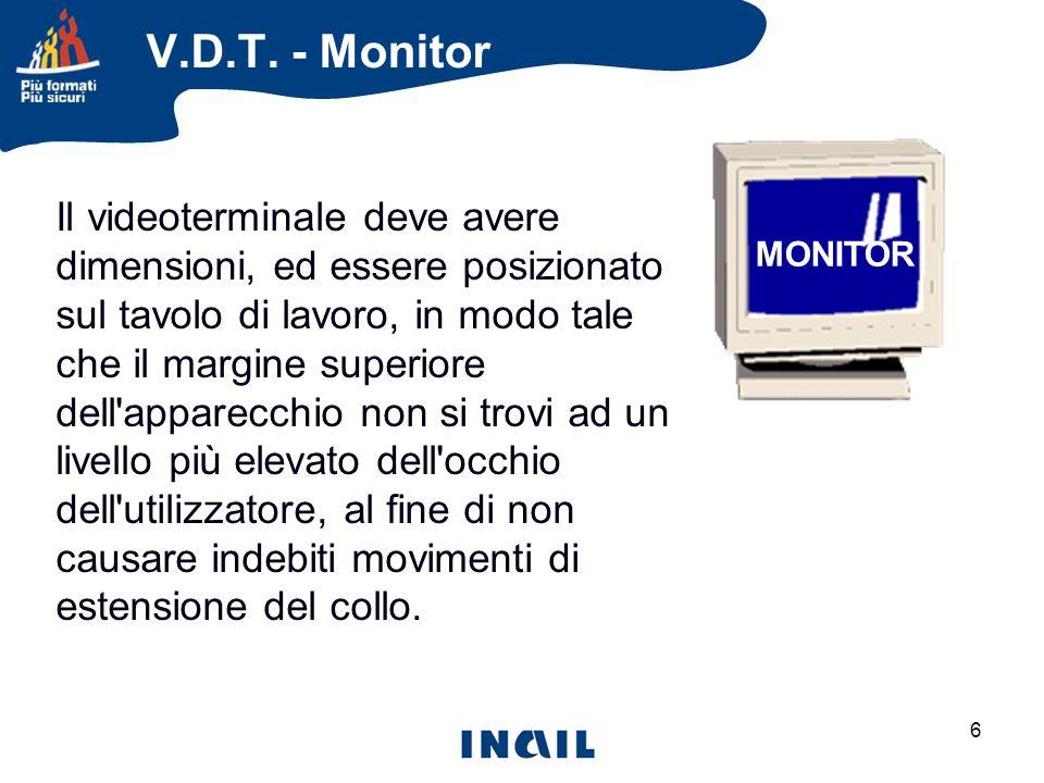 7 DISTANZA OCCHI SCHERMO V.D.T. - Monitor