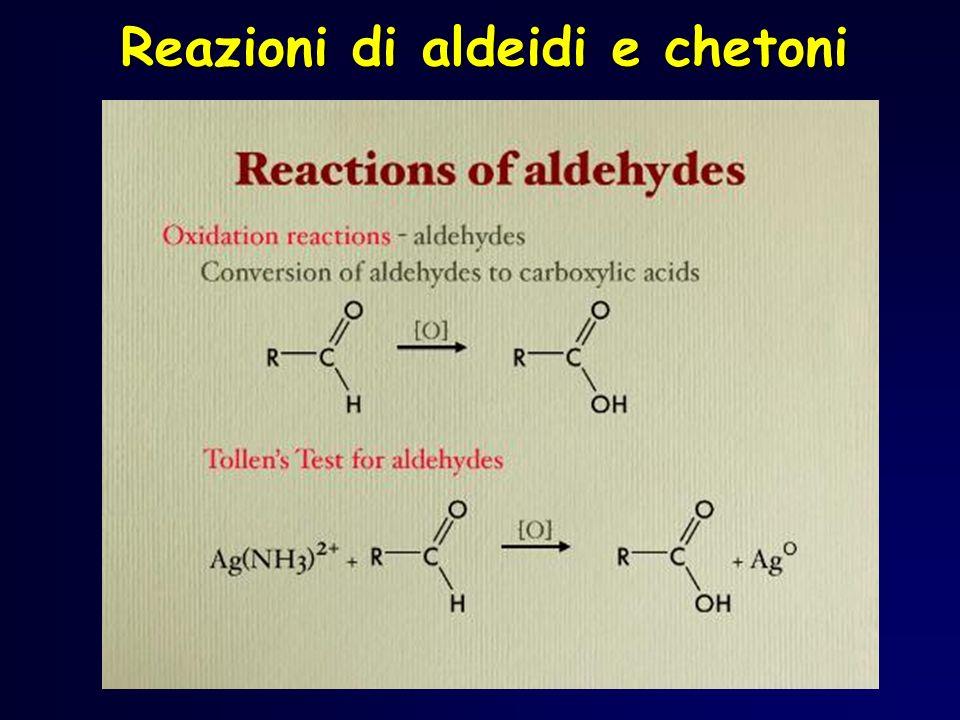 Reazioni di aldeidi e chetoni