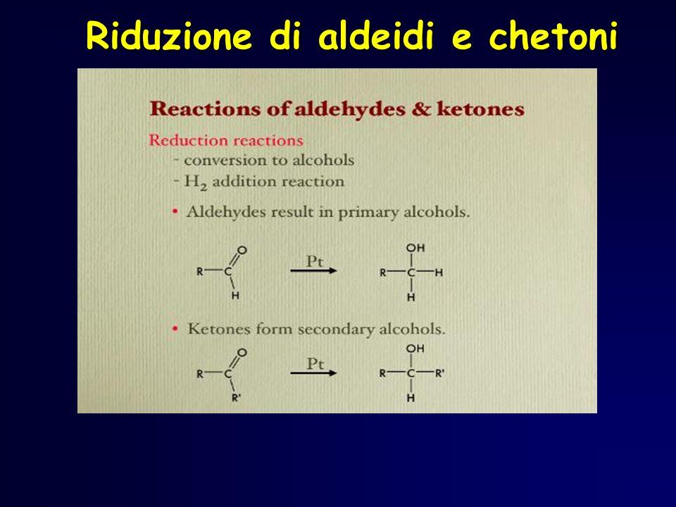 Riduzione di aldeidi e chetoni