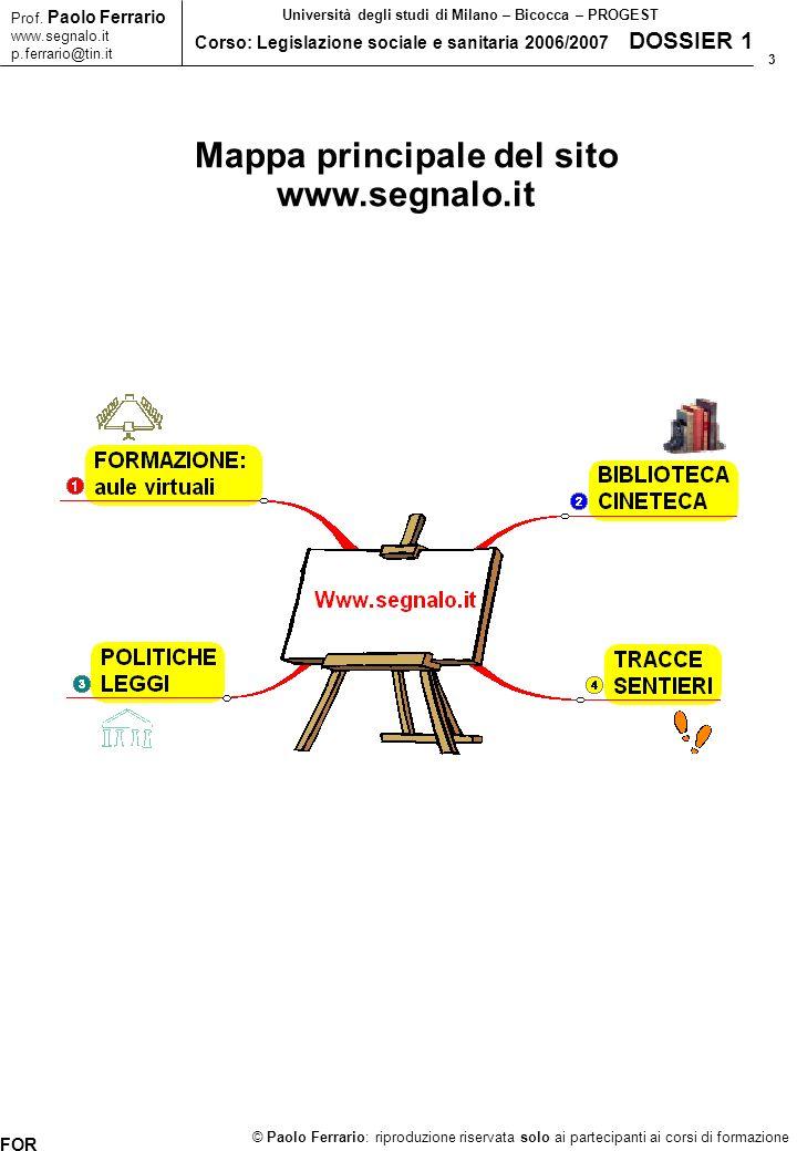 4 © Paolo Ferrario: riproduzione riservata solo ai partecipanti ai corsi di formazione Prof.