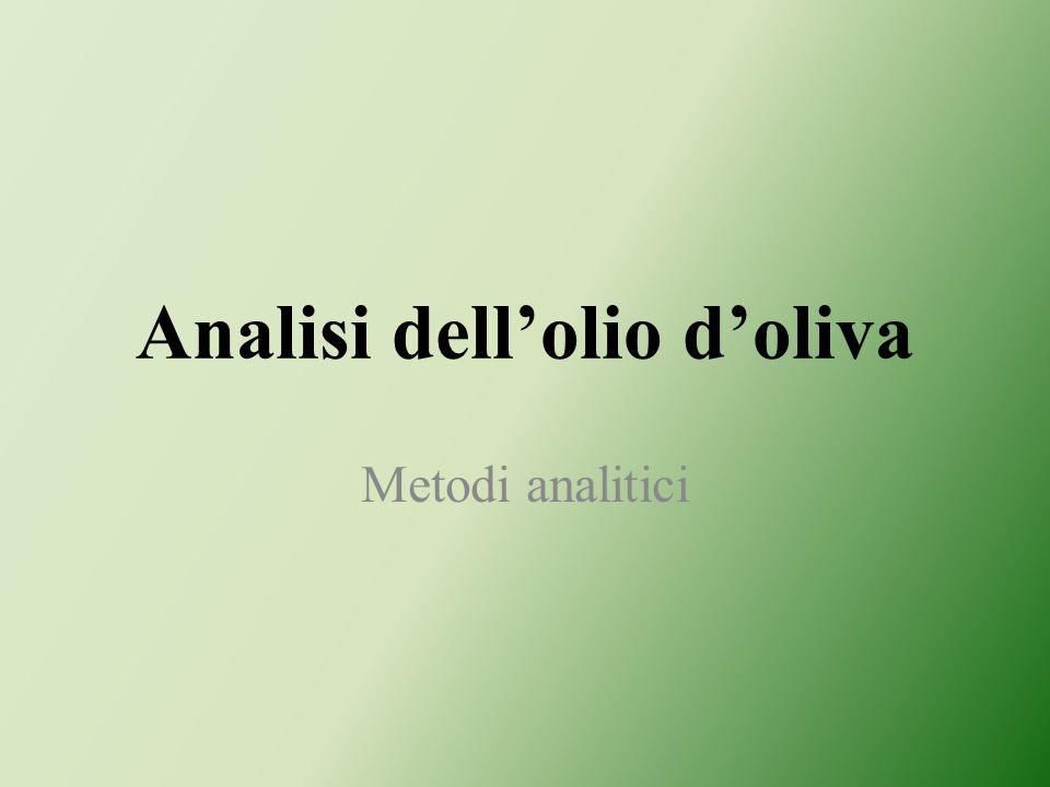 Analisi dellolio doliva Metodi analitici