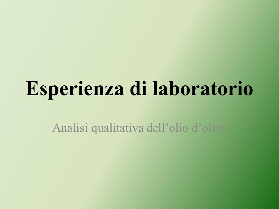 Esperienza di laboratorio Analisi qualitativa dellolio doliva