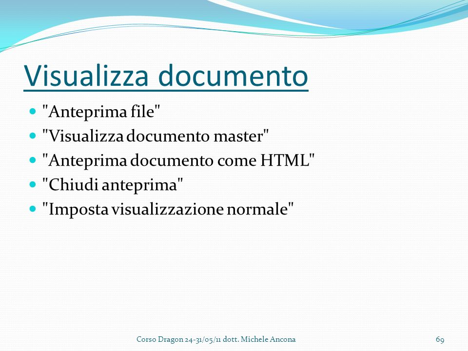 Visualizza documento