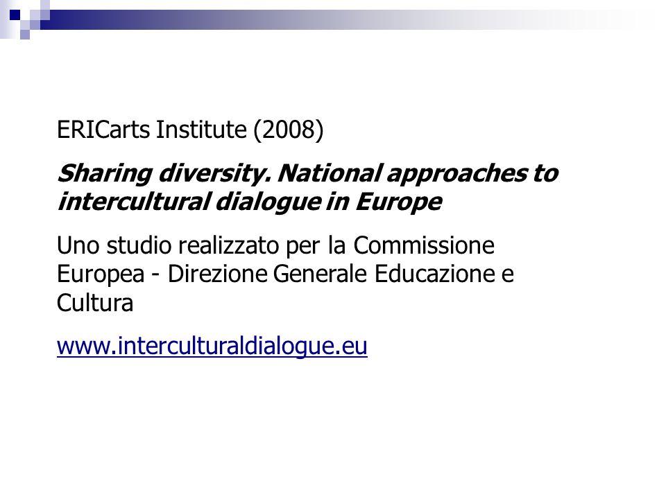 ERICarts Institute (2008) Sharing diversity. National approaches to intercultural dialogue in Europe Uno studio realizzato per la Commissione Europea