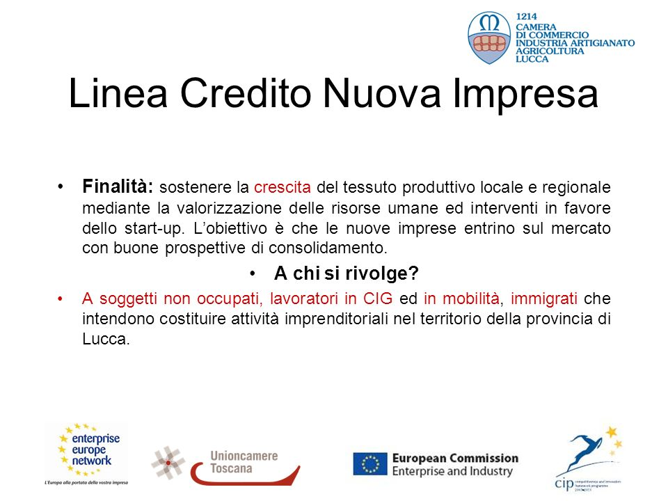 Finalità: sostenere la crescita del tessuto produttivo locale e regionale mediante la valorizzazione delle risorse umane ed interventi in favore dello start-up.