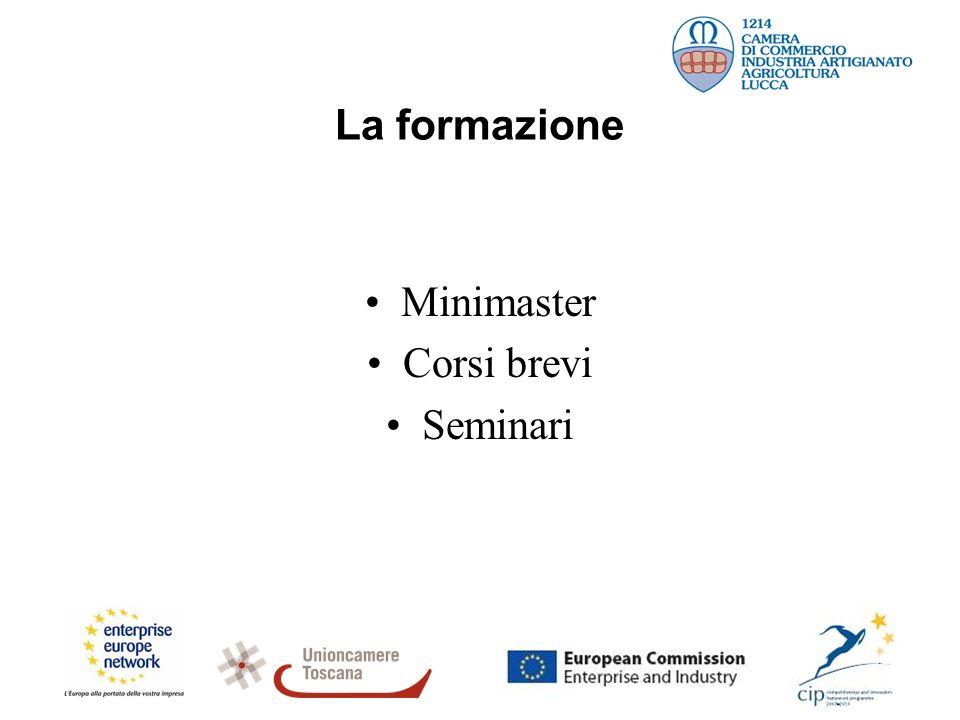 La formazione Minimaster Corsi brevi Seminari