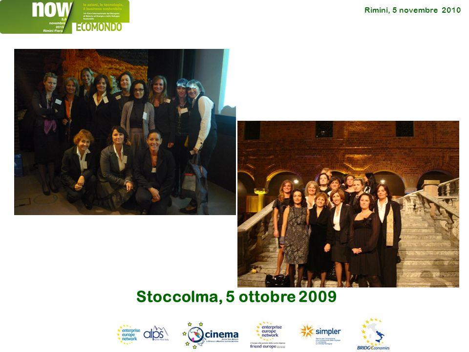 Rimini, 5 novembre 2010 Stoccolma, 5 ottobre 2009