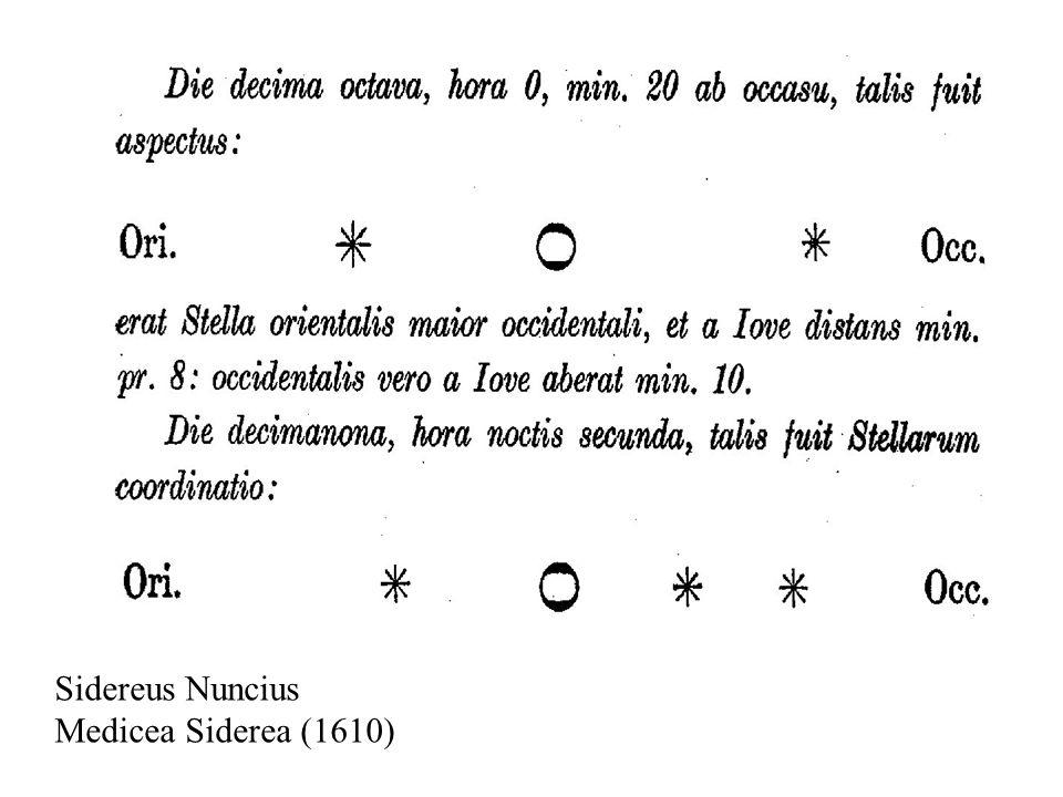 Sidereus Nuncius Medicea Siderea (1610)