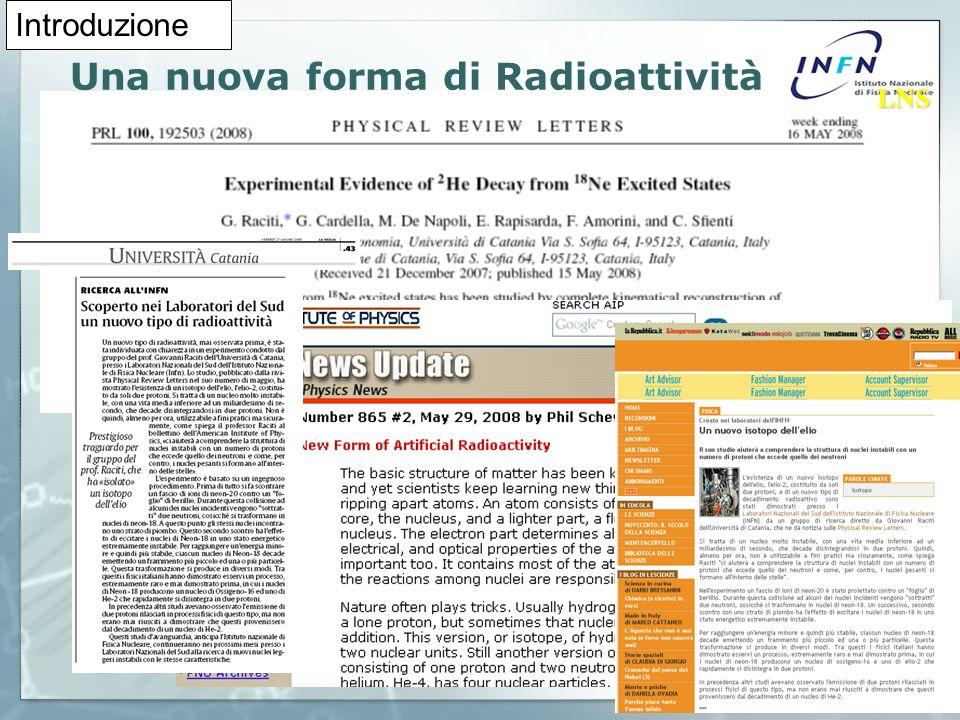Una nuova forma di Radioattività LNS LNS Introduzione