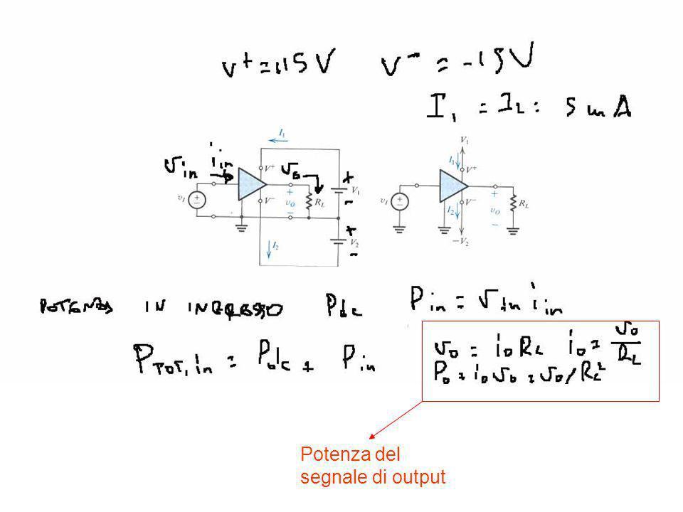 Potenza del segnale di output