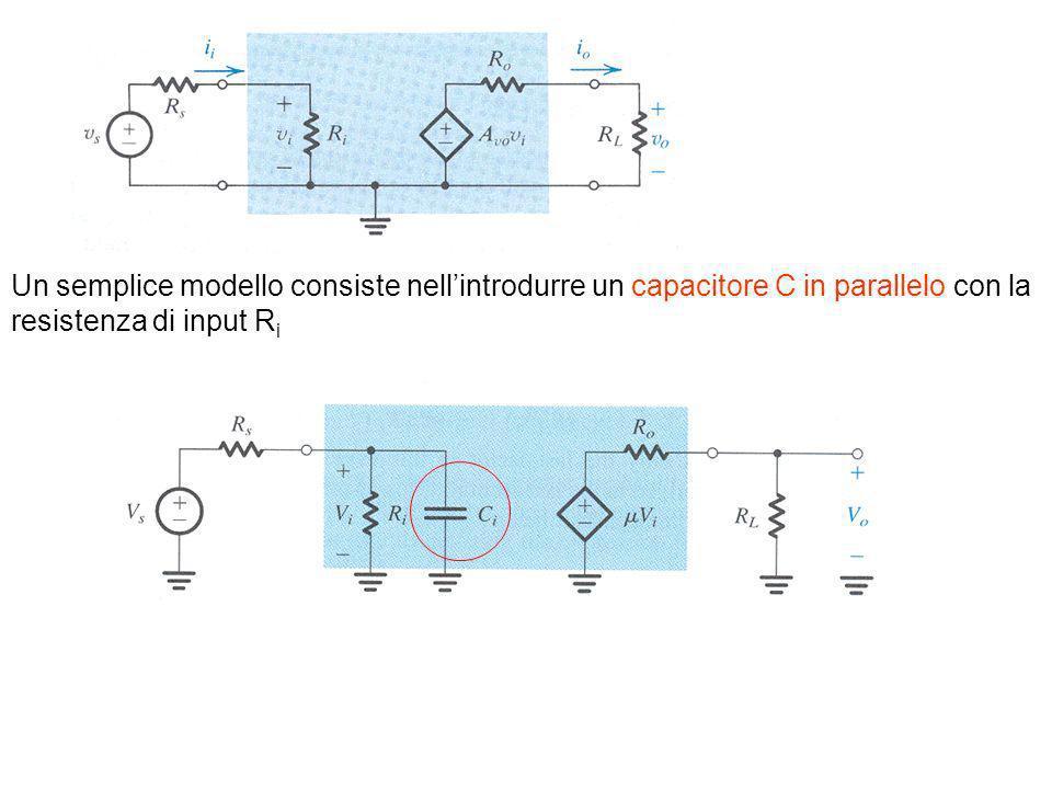 Un semplice modello consiste nellintrodurre un capacitore C in parallelo con la resistenza di input R i