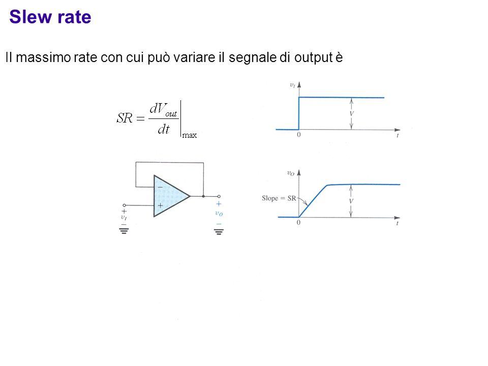 Il massimo rate con cui può variare il segnale di output è Slew rate