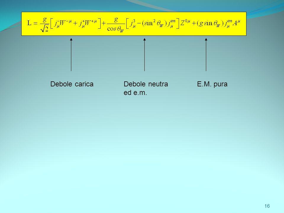 Debole caricaE.M. puraDebole neutra ed e.m. 16