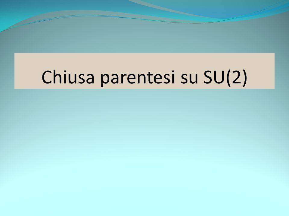 Chiusa parentesi su SU(2)