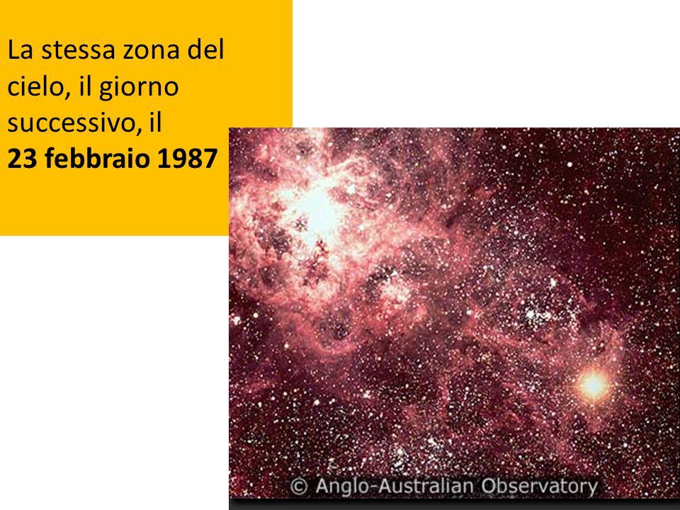 La stessa zona del cielo, il giorno successivo, il 23 febbraio 1987