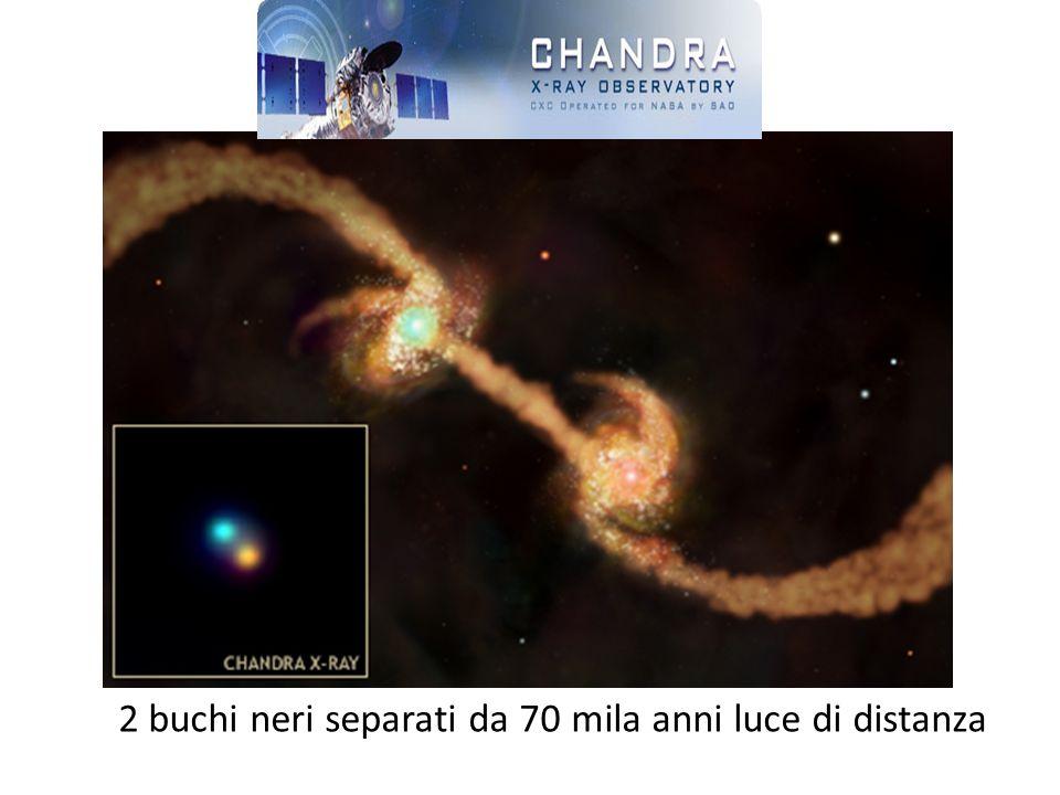 2 buchi neri separati da 70 mila anni luce di distanza