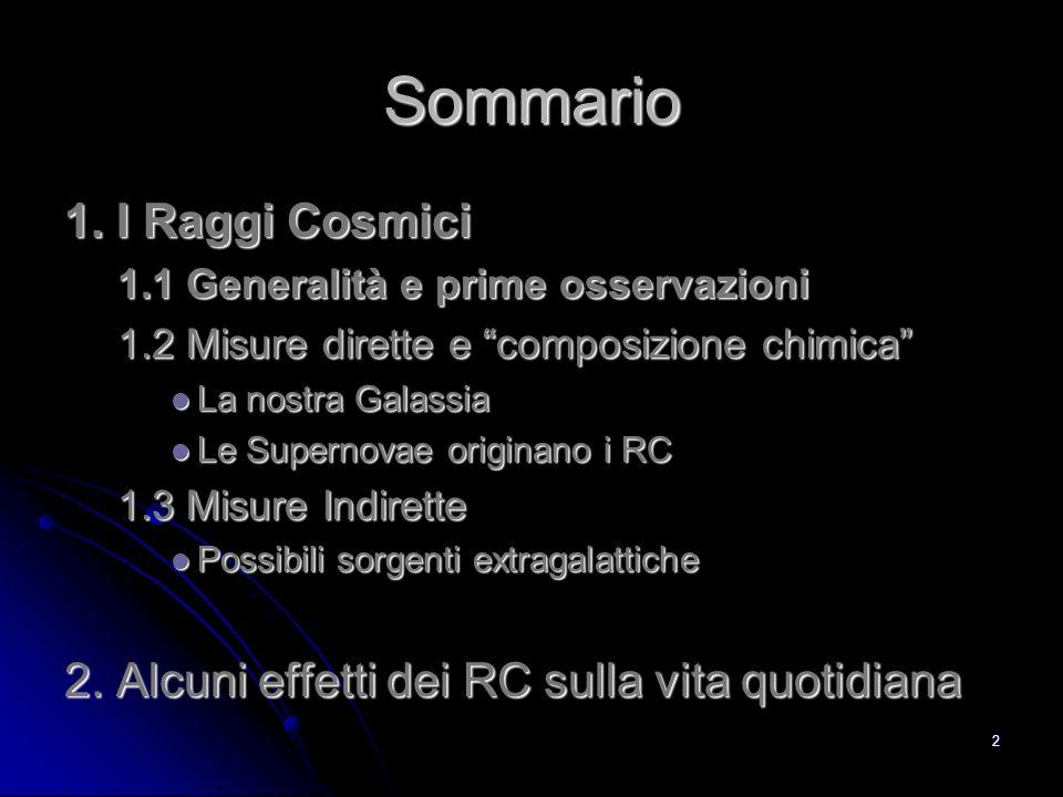 22 Il confinamento dei RC C,N,O Li,Be,B Lastrofisica stellare ci dice che Li, Be, B servono per catalizzare le reazioni di fusione nucleare nel nucleo delle stelle.