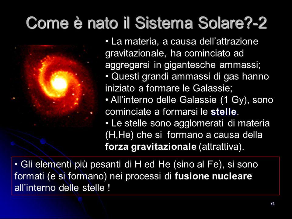 73 La teoria (Big Bang) e le osservazioni sullevoluzione dellUniverso mostrano che la sua età 14 miliardi di anni.