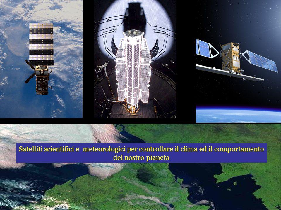Satelliti scientifici e meteorologici per controllare il clima ed il comportamento del nostro pianeta