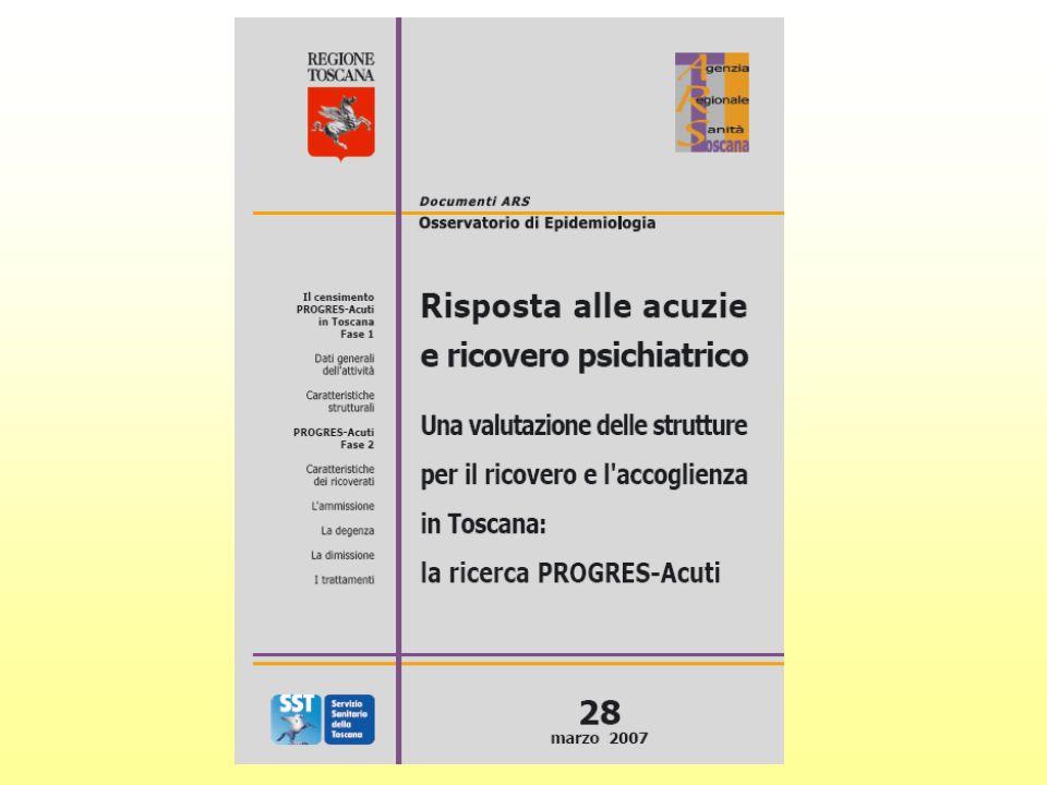 2.2 SERVIZI SPECIFICI NEI DSM PER I PAZIENTI CON ESORDIO PSICOTICO (f.g.) % DSM