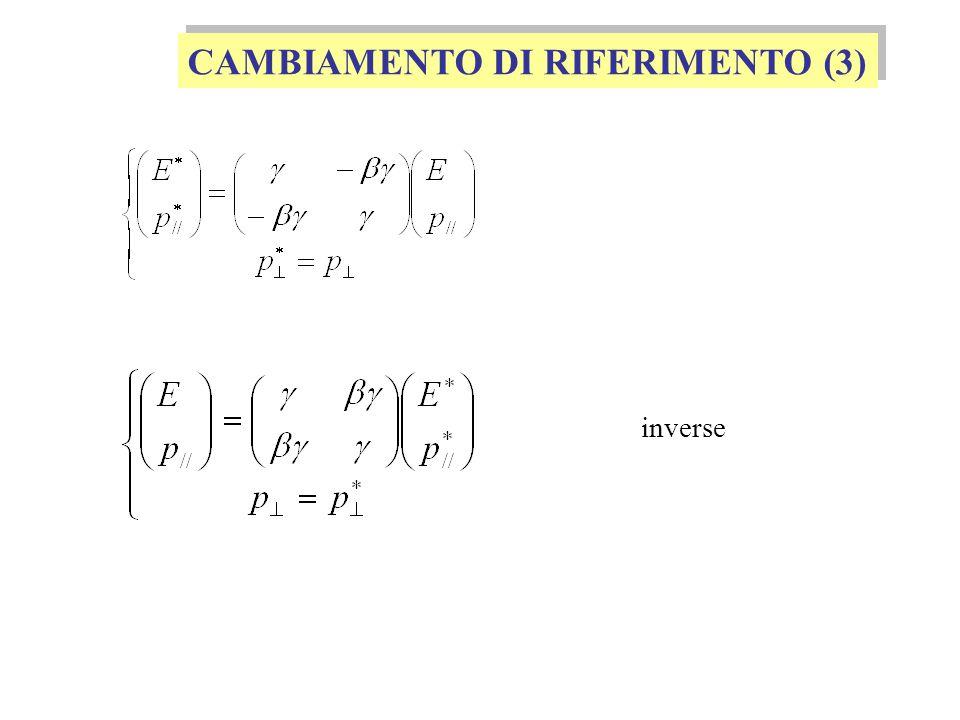 CAMBIAMENTO DI RIFERIMENTO (3) inverse