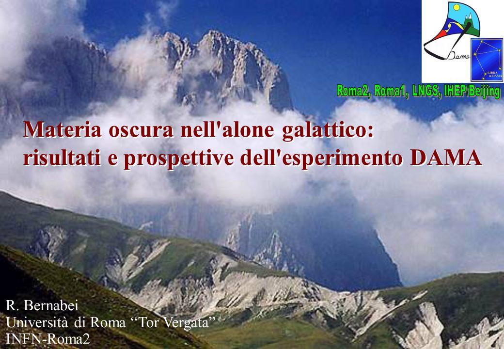 R. Bernabei Università di Roma Tor Vergata INFN-Roma2 Materia oscura nell'alone galattico: risultati e prospettive dell'esperimento DAMA Materia oscur