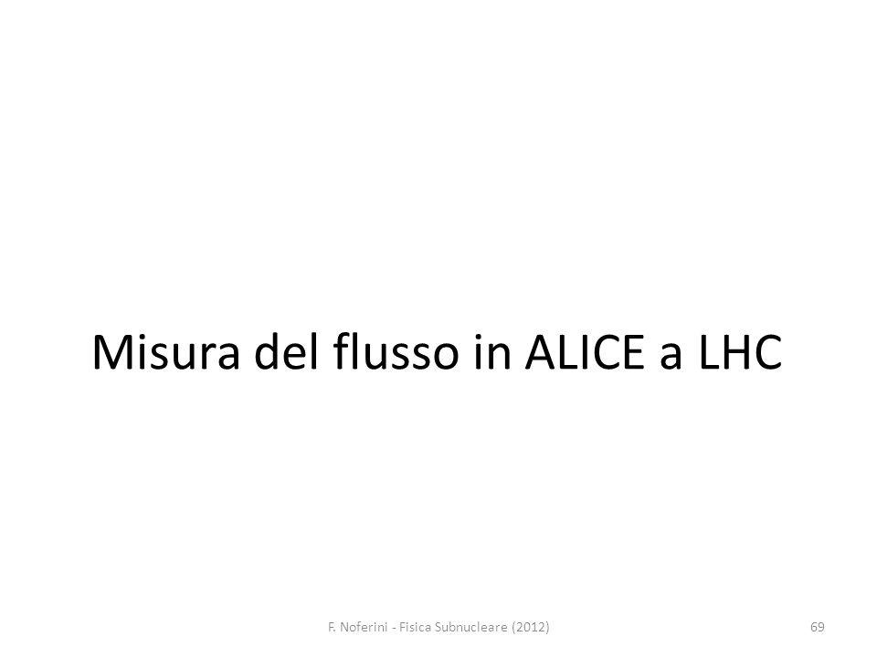 Misura del flusso in ALICE a LHC F. Noferini - Fisica Subnucleare (2012)69