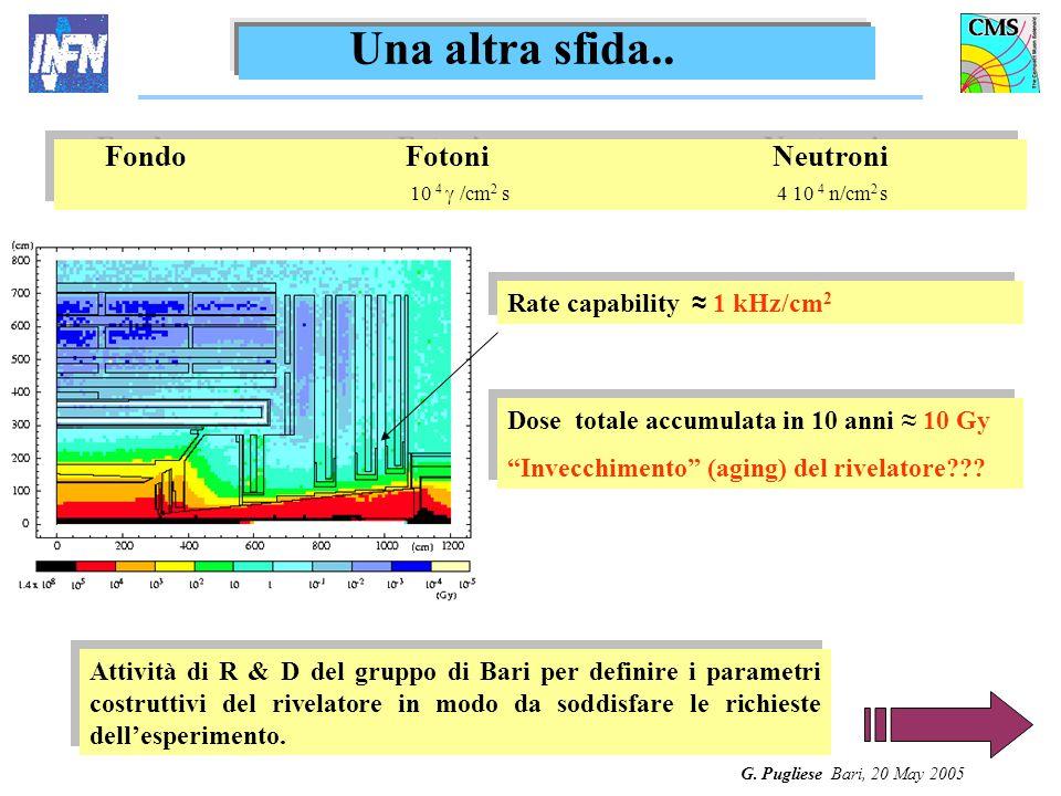 G. Pugliese Bari, 20 May 2005 Una altra sfida.. Attività di R & D del gruppo di Bari per definire i parametri costruttivi del rivelatore in modo da so