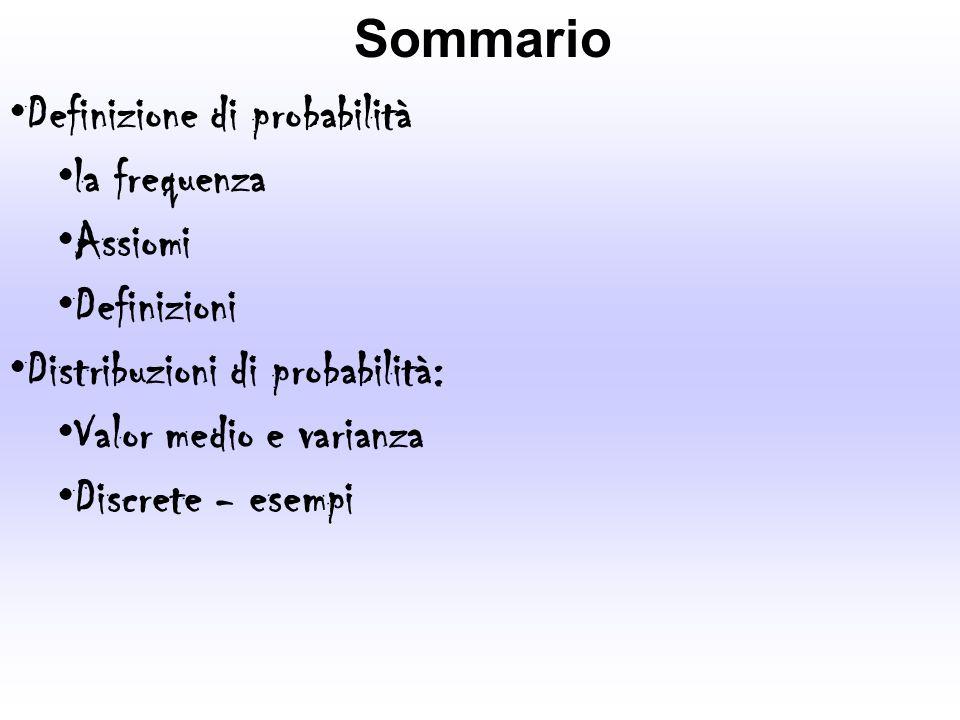 La probabilità Davide Grandi - Dottorato in Biologia La probabilità P(E) di un evento E è il rapporto tra il numero di casi favorevoli F (al realizzarsi di E) ed il numero di casi N possibili, giudicati egualmente possibili (stesso peso) P(E)=F/N con 0 P(E) 1[N finito] Se F=0 non esistono casi favorevoli, e levento è IMPOSSIBILE ovvero P(E)=0 Se F=N ovvero tutti i casi sono favorevoli, levento è CERTO e P(E)=1.