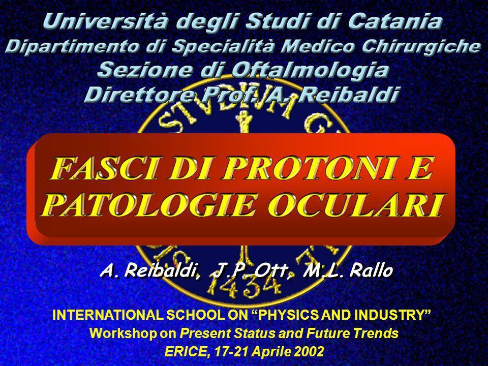 A. Reibaldi, J.P. Ott, M.L. Rallo INTERNATIONAL SCHOOL ON PHYSICS AND INDUSTRY Workshop on Present Status and Future Trends ERICE, 17-21 Aprile 2002