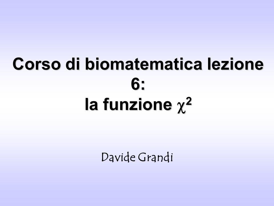 Corso di biomatematica lezione 6: la funzione 2 Davide Grandi