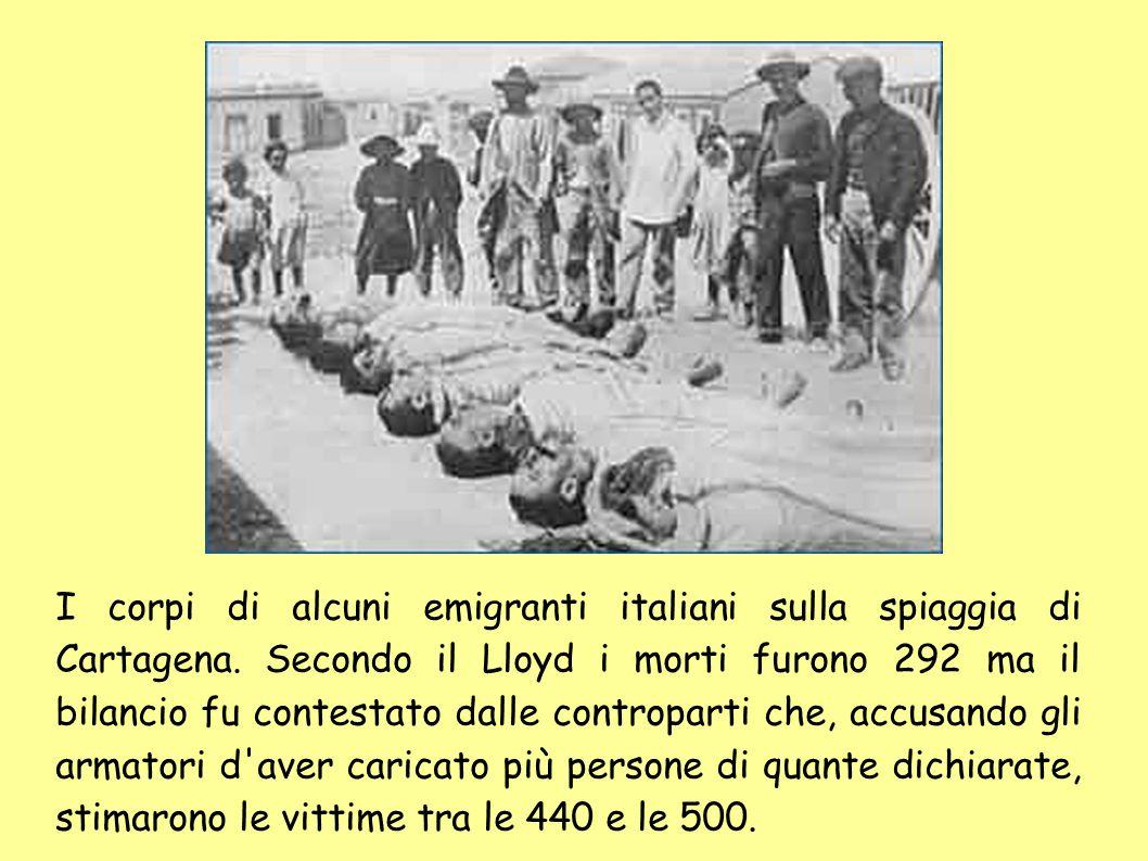 E da Genova il Sirio partivano per l America, varcare, varcare i confin.