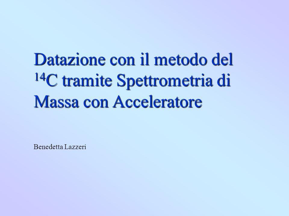 Datazione con il metodo del 14 C tramite Spettrometria di Massa con Acceleratore Benedetta Lazzeri