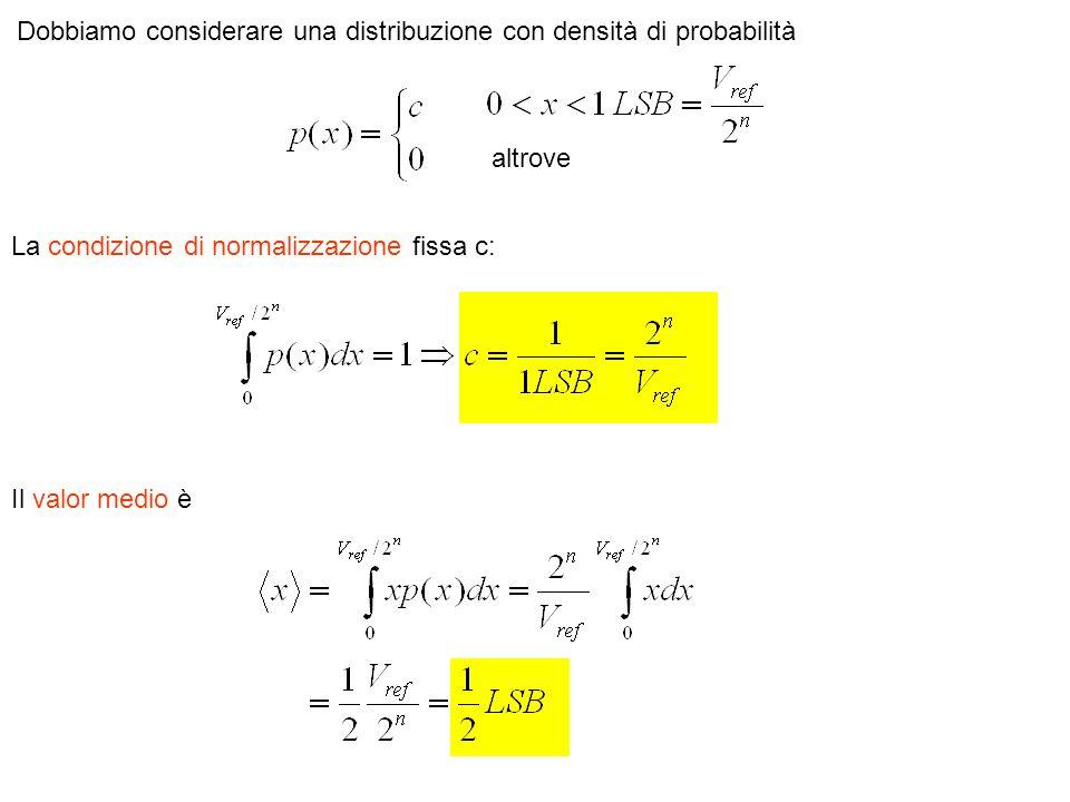 Dobbiamo considerare una distribuzione con densità di probabilità altrove La condizione di normalizzazione fissa c: Il valor medio è