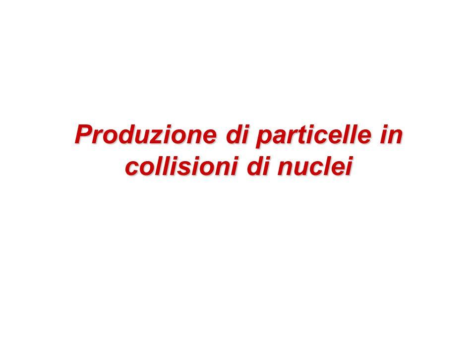 Produzione di particelle in collisioni di nuclei