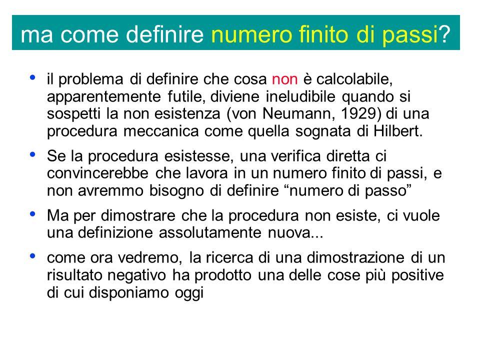 ma come definire numero finito di passi.
